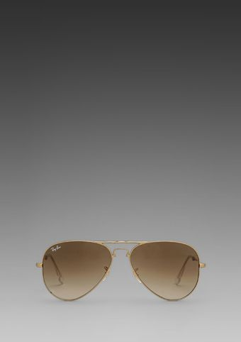 Ray-Ban Folding Aviator in Arista Crystal Brown Gradient - Lyst
