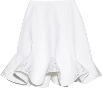 Vika Gazinskaya Embroidered Quilted Cotton Skirt - Lyst