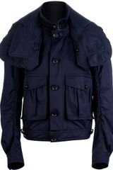 Burberry Prorsum Buttoned Windbreaker Jacket - Lyst