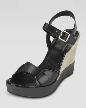 Cole Haan Paley Leather and Suede Wedge - Lyst
