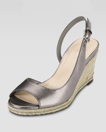 Cole Haan Adelaide Metallic Leather Midwedge - Lyst