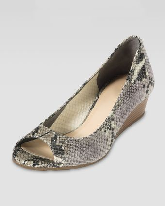 Cole Haan Air Tali Snakeembossed Wedge Pump - Lyst