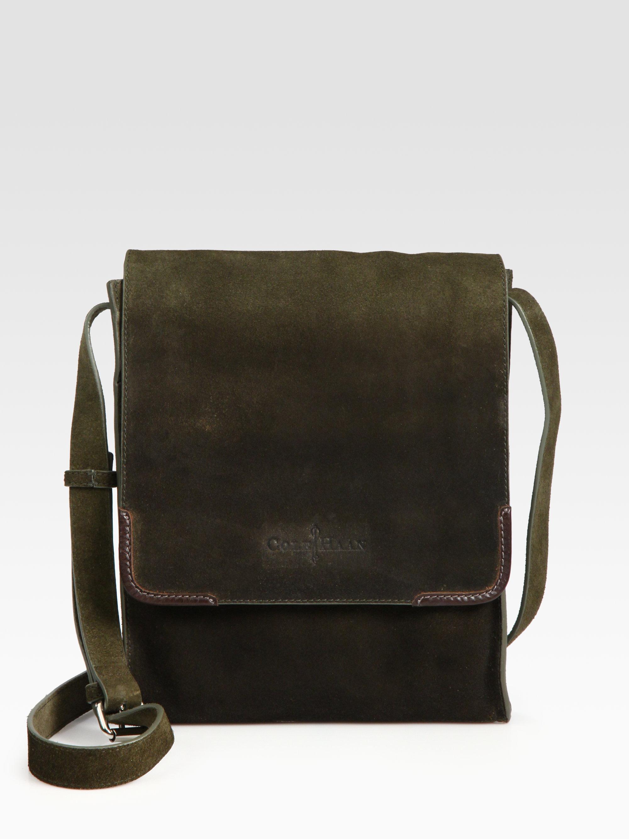 c7ce5a5c858b8 Lyst - Cole Haan Merced Newspaper Bag in Black for Men