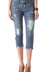 Free People Cropped Jeans - Lyst