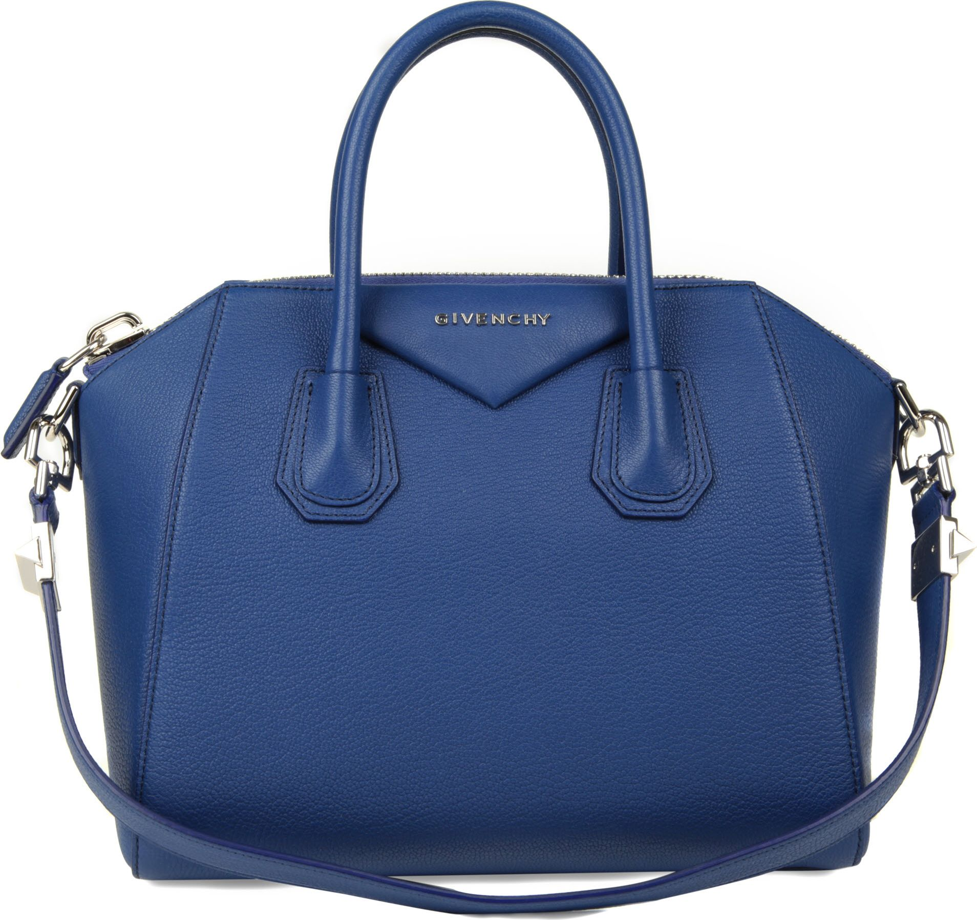 givenchy antigona small grainy leather tote in blue lyst. Black Bedroom Furniture Sets. Home Design Ideas