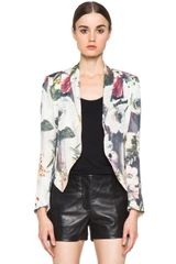 Haute Hippie Floral Jacket in Swan Multi