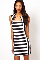 John Zack Mini Dress with Cut Out Neck - Lyst