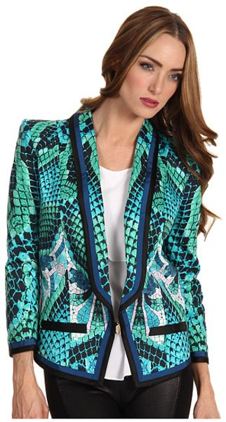 Just Cavalli Atlantis Print Cotton Blazer - Lyst