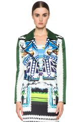 Mary Katrantzou Biker Jacket in Starsailor - Lyst