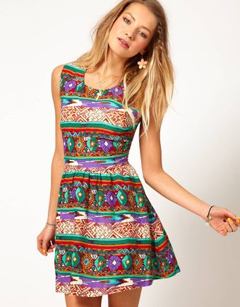 Mink Pink Open Back Dress in Woodstock Print - Lyst