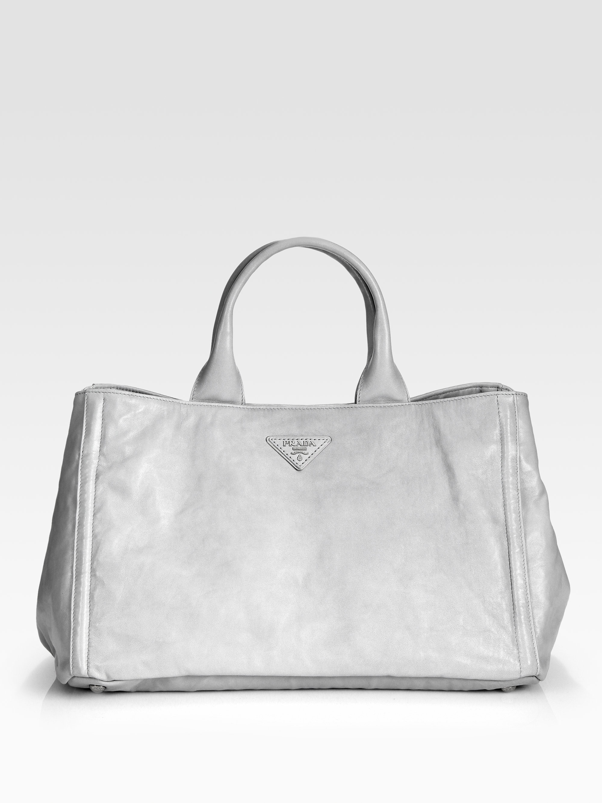 popular leather purses - prada nappa tote, prada ostrich purse