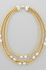 Rachel Zoe Threestrand Twisted Chain Necklace - Lyst