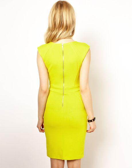 River Island Lime Bandage Dress