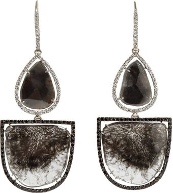 Sharon Khazzam Diamond Semicircle Drop Earrings - Lyst