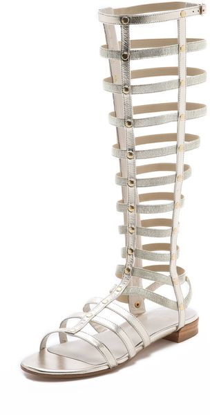 Stuart Weitzman Gladiator Knee High Sandals - Lyst