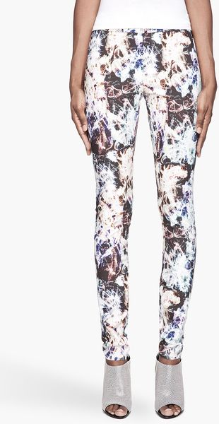 Theyskens' Theory Purple Multicolor Pittel Leggings - Lyst