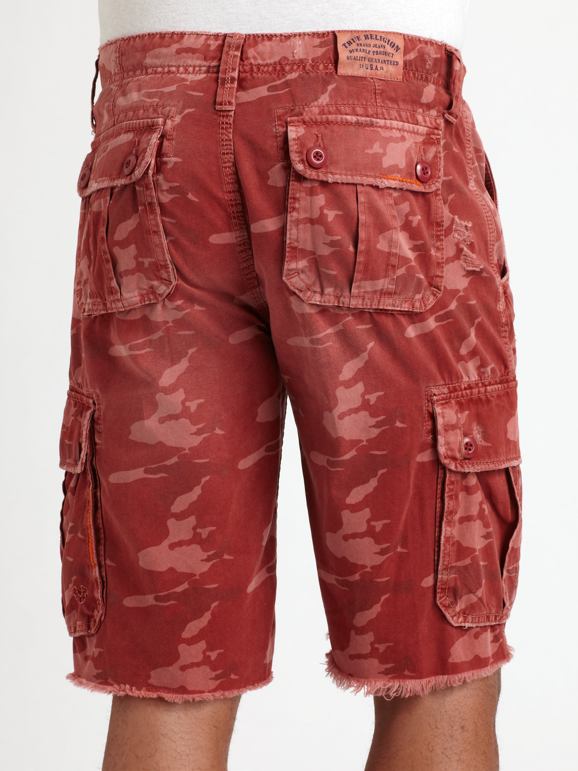 Lyst True Religion Recon Cargo Shorts In Red For Men