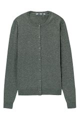 Uniqlo Crew Neck Cardigan - Lyst