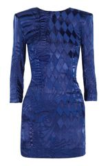 Balmain Devoré Mini Dress - Lyst