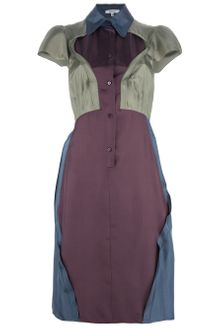 Carven Habotai Shirt Dress - Lyst
