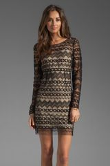 Catherine Malandrino Long Sleeve Tulle Dress - Lyst