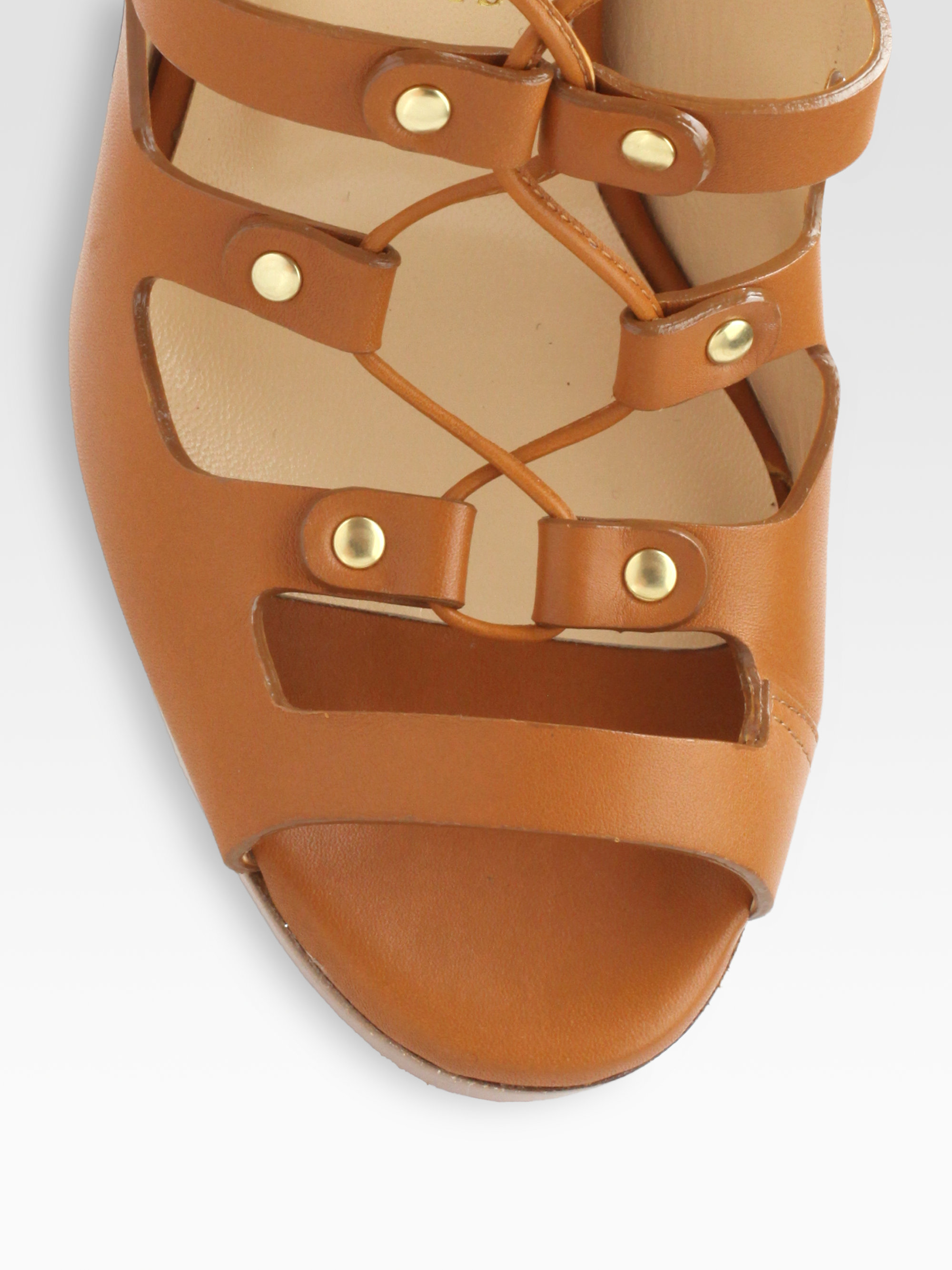 Artesur ? christian louboutin sandals Brown leather short stacked ...