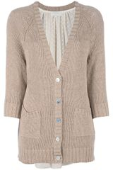 Clu Long Knitted Cardigan - Lyst