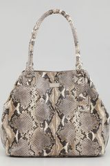 Cole Haan Village Convertible Snakeprint Tote Bag Natural - Lyst