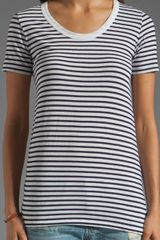 Demylee Semi Sailor Stripe Top in Whitenavy - Lyst
