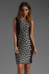 Diane Von Furstenberg Tilda Dress in Blackblackwhite - Lyst