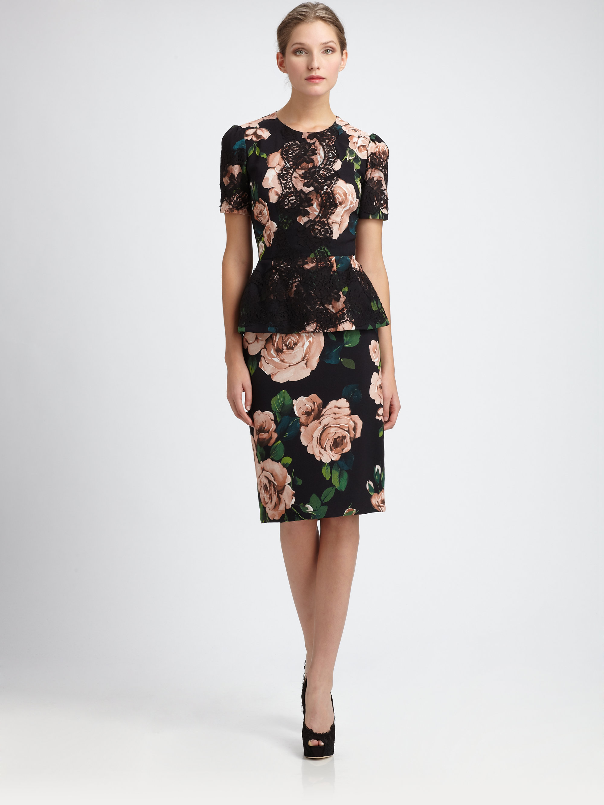 Floral Pencil Skirt | Gommap Blog