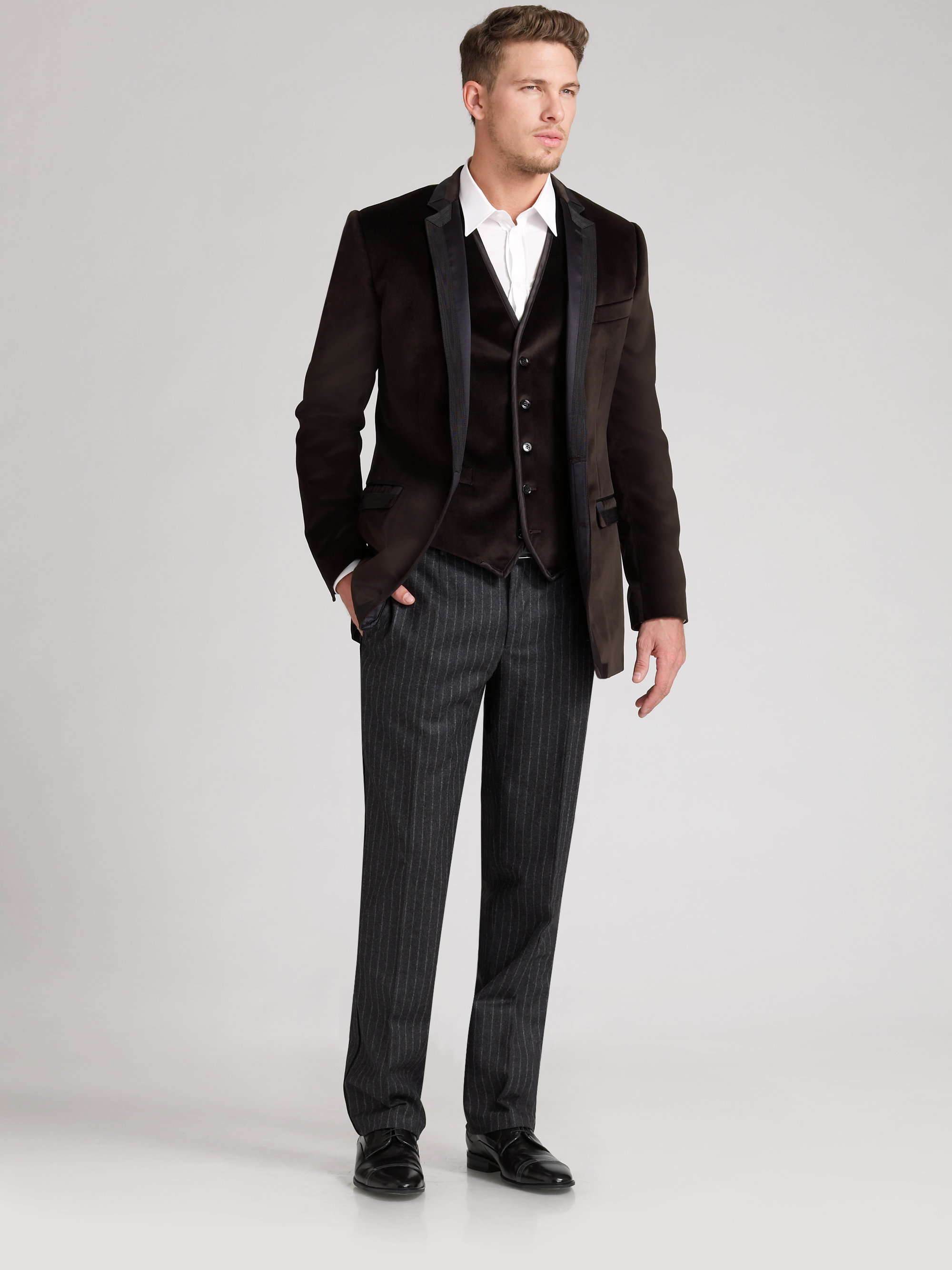 Dolce & gabbana Velvet Blazer in Brown for Men | Lyst