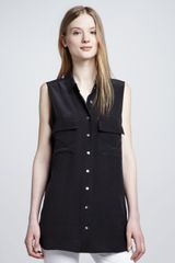 Equipment Signature Sleeveless Pocket Blouse - Lyst