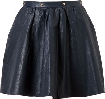 Felder Felder Flared Leather Skater Skirt - Lyst