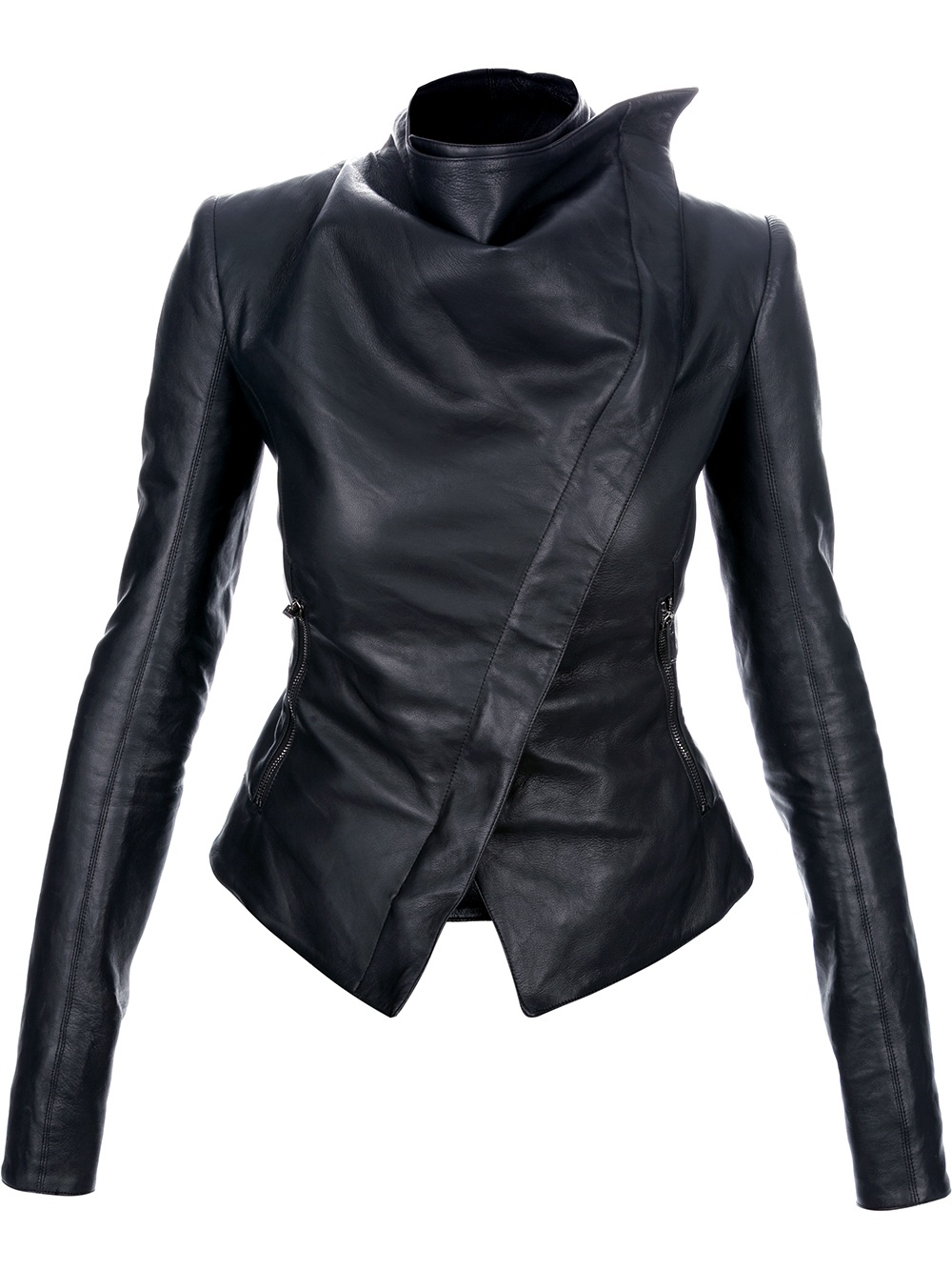 Gareth pugh Asymmetric Leather Jacket in Black