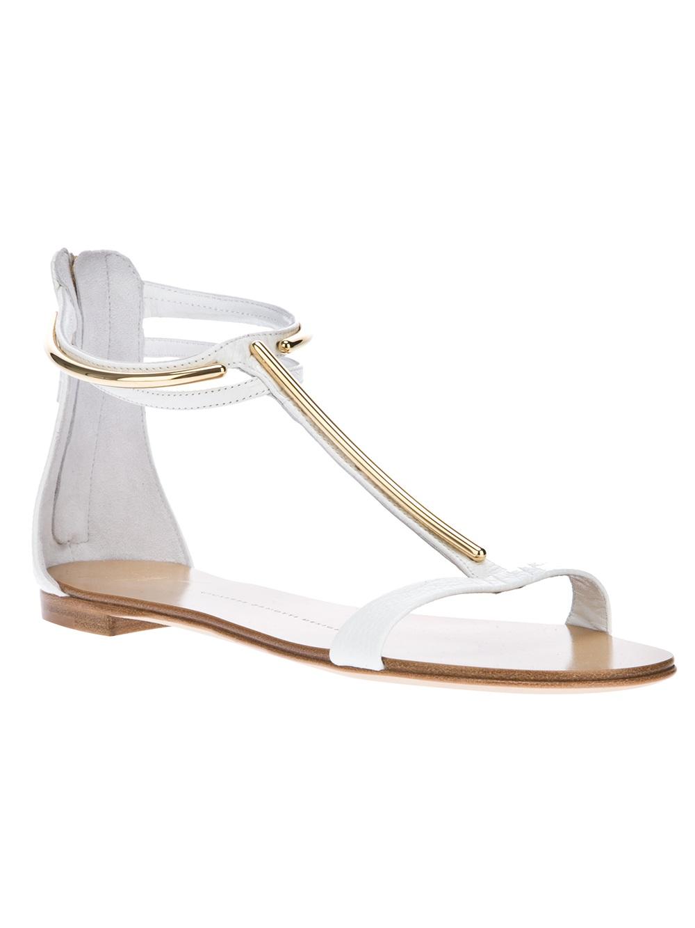 c0d25d3e35d1 Lyst - Giuseppe Zanotti T-bar Sandal in White