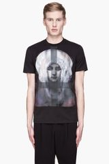 Givenchy  Painted Madonna Print T-Shirt - Lyst