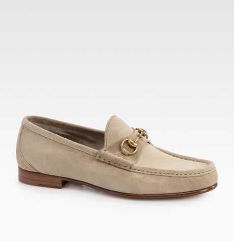 76e4ab1e44c Mens Gucci Horsebit Loafers Suede