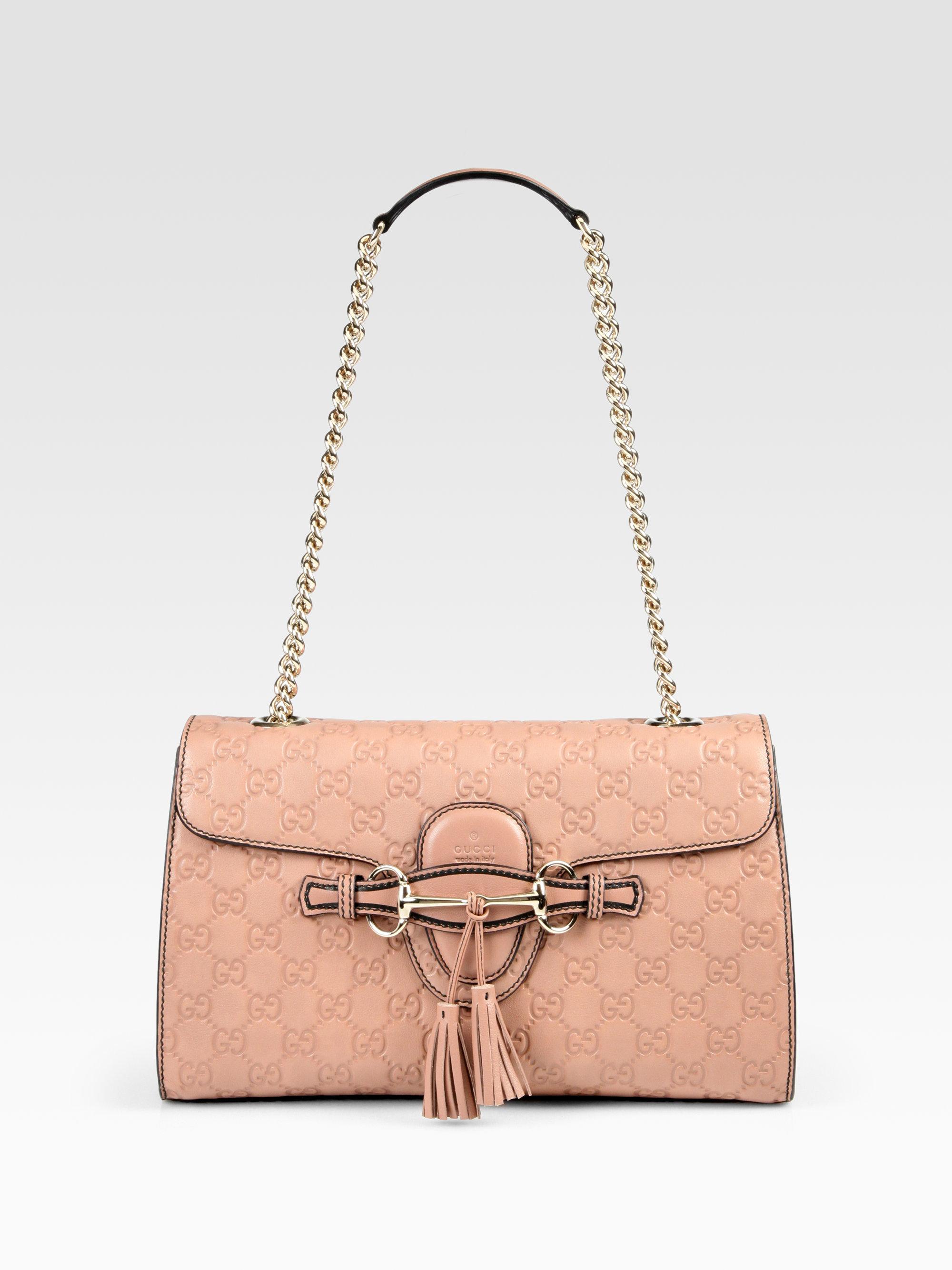 cca8a5e4e Gucci Emily Medium Shoulder Bag in Pink - Lyst