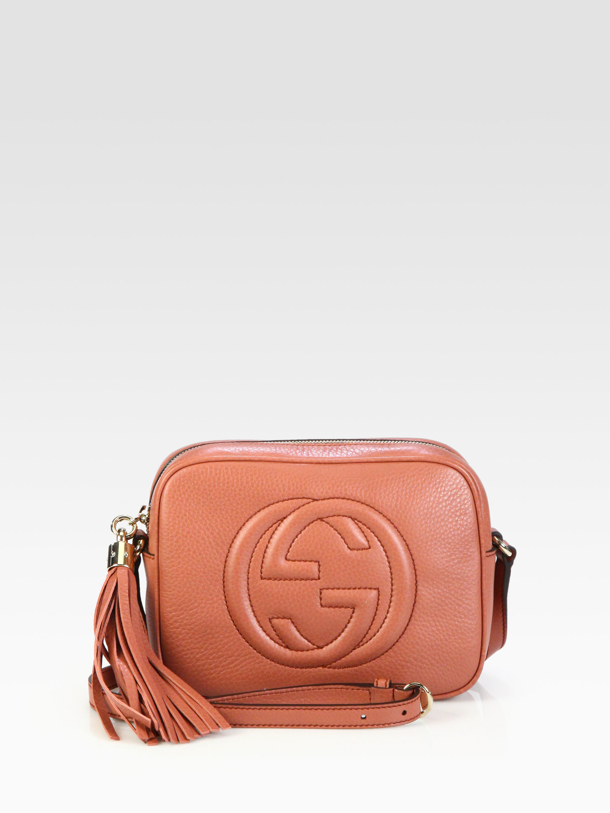acbe4ee553e9 Gucci Soho Disco Leather Shoulder Bag in Pink - Lyst