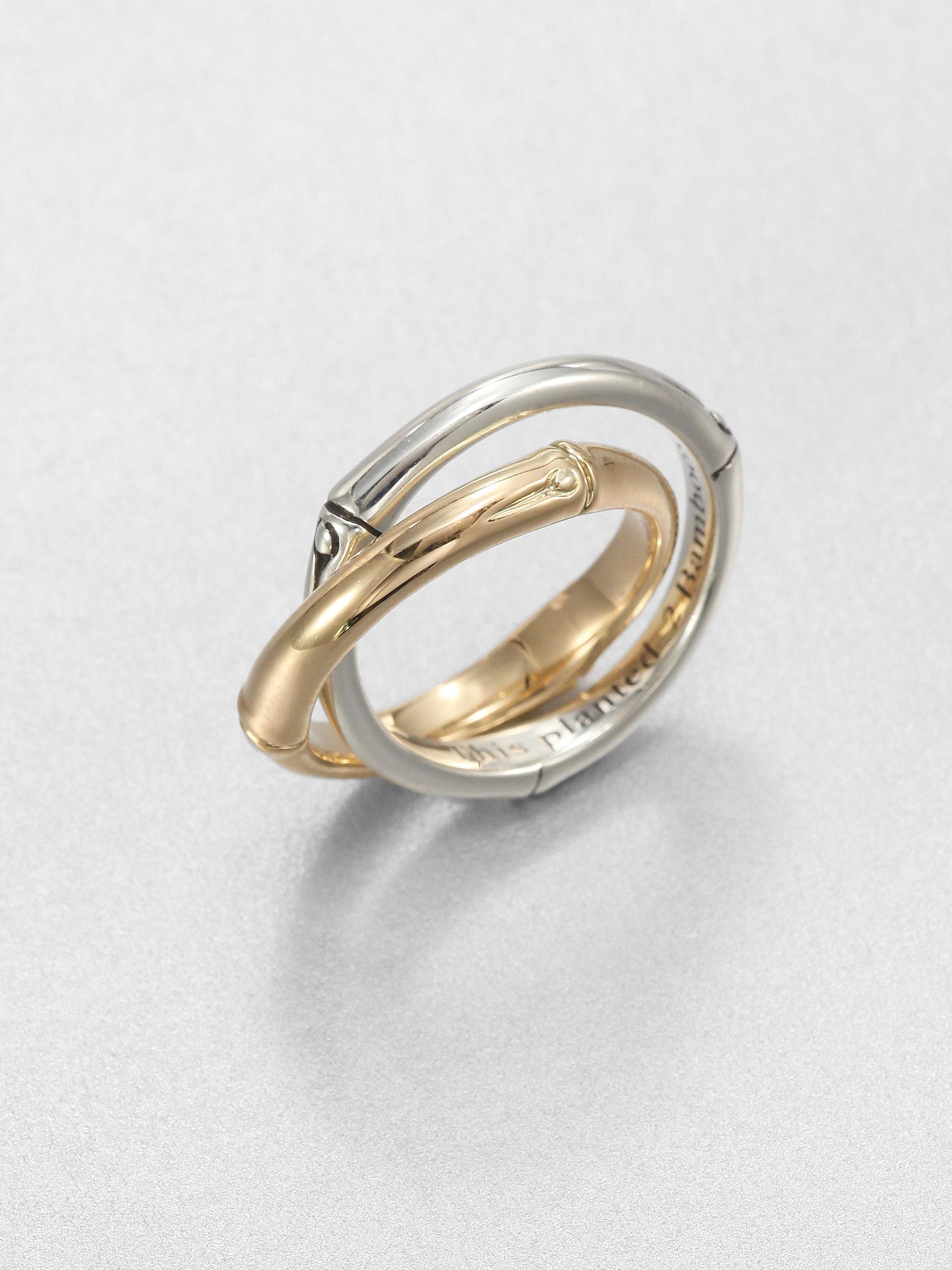 silver interlocking rings