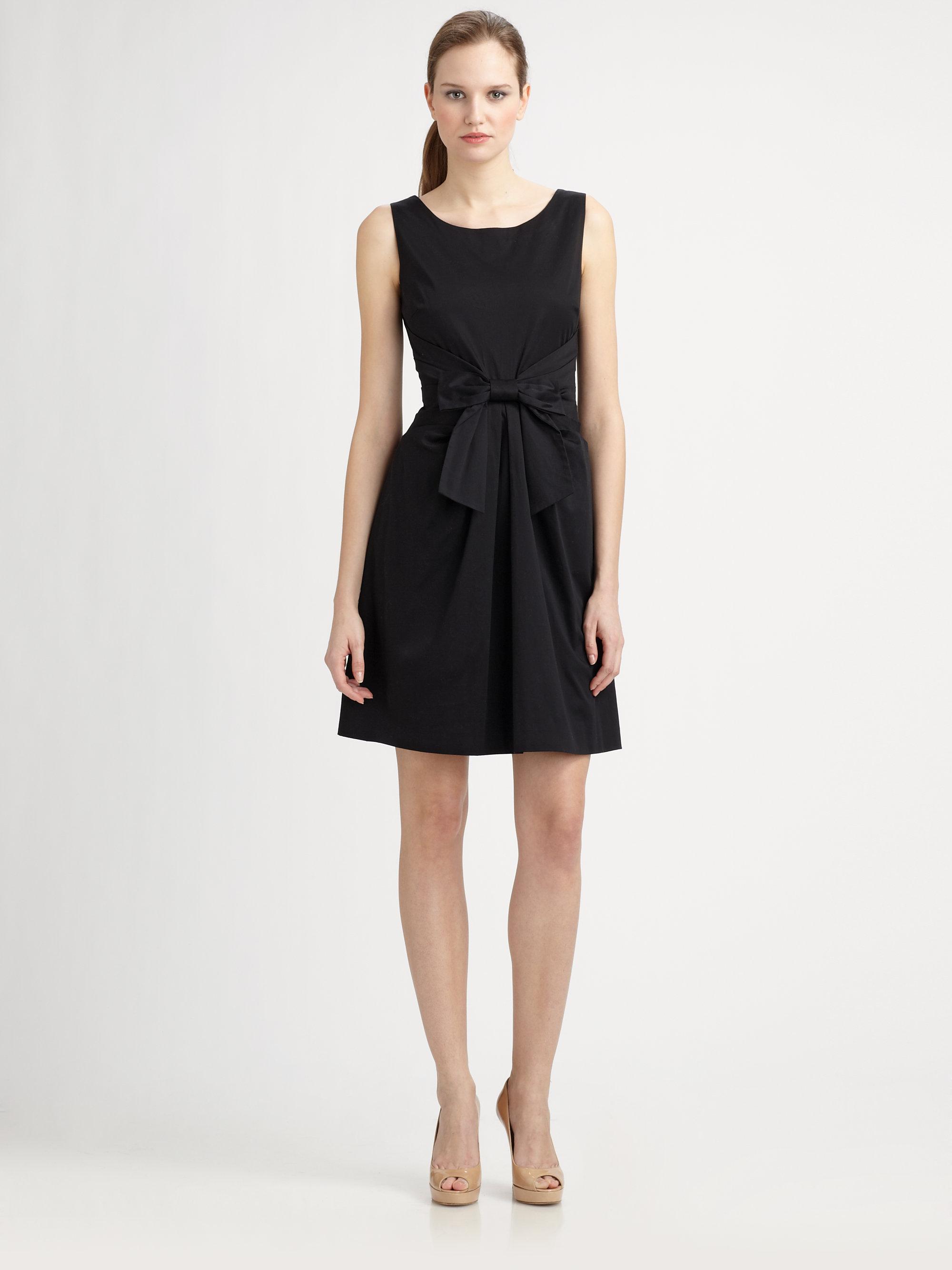8a2b69d9a Kate Spade Jillian Bow Dress in Black - Lyst