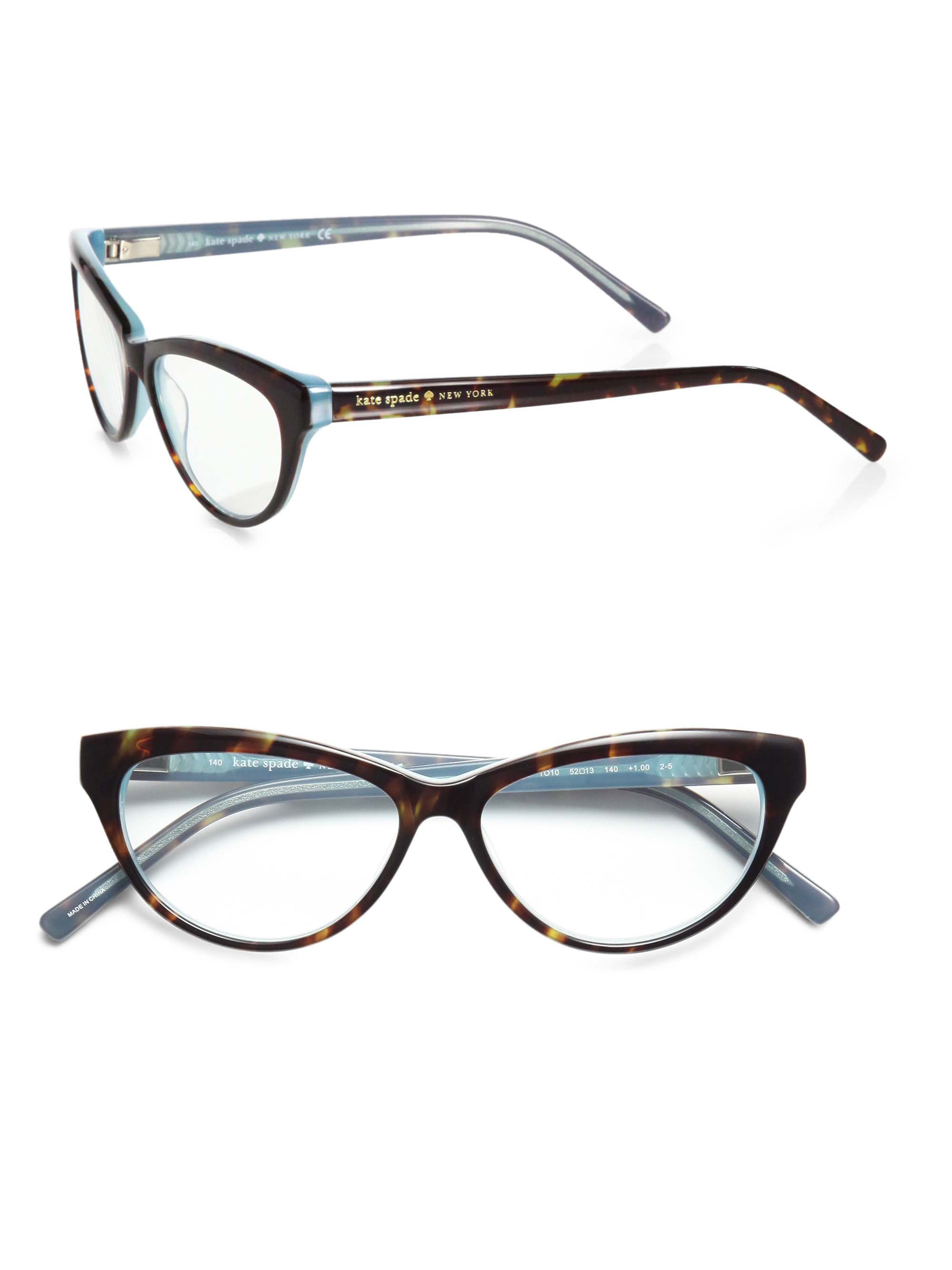 Kate Spade Tortoise Shell Glasses Frames : Kate spade new york Abena CatS-Eye Reading Glasses in ...