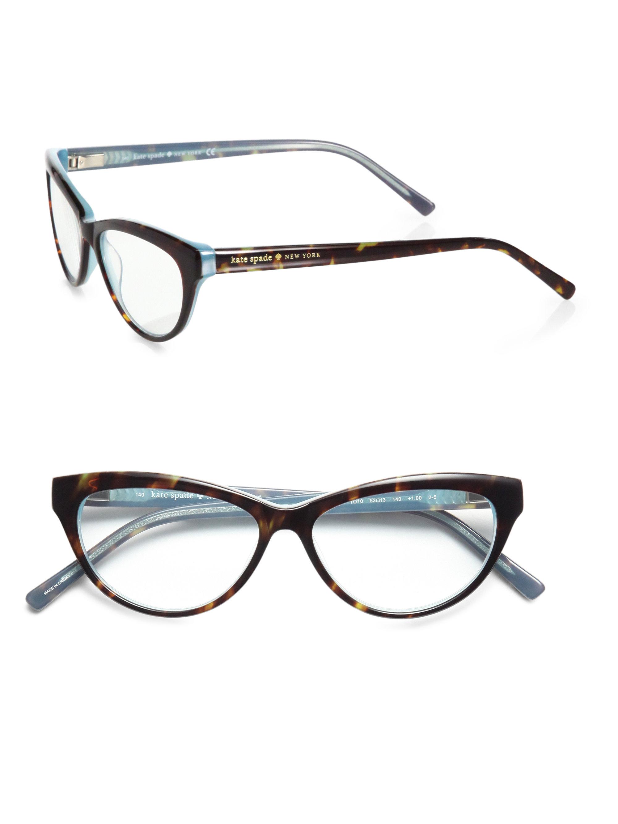 Kate Spade Abena Cat S Eye Reading Glasses In Black Black