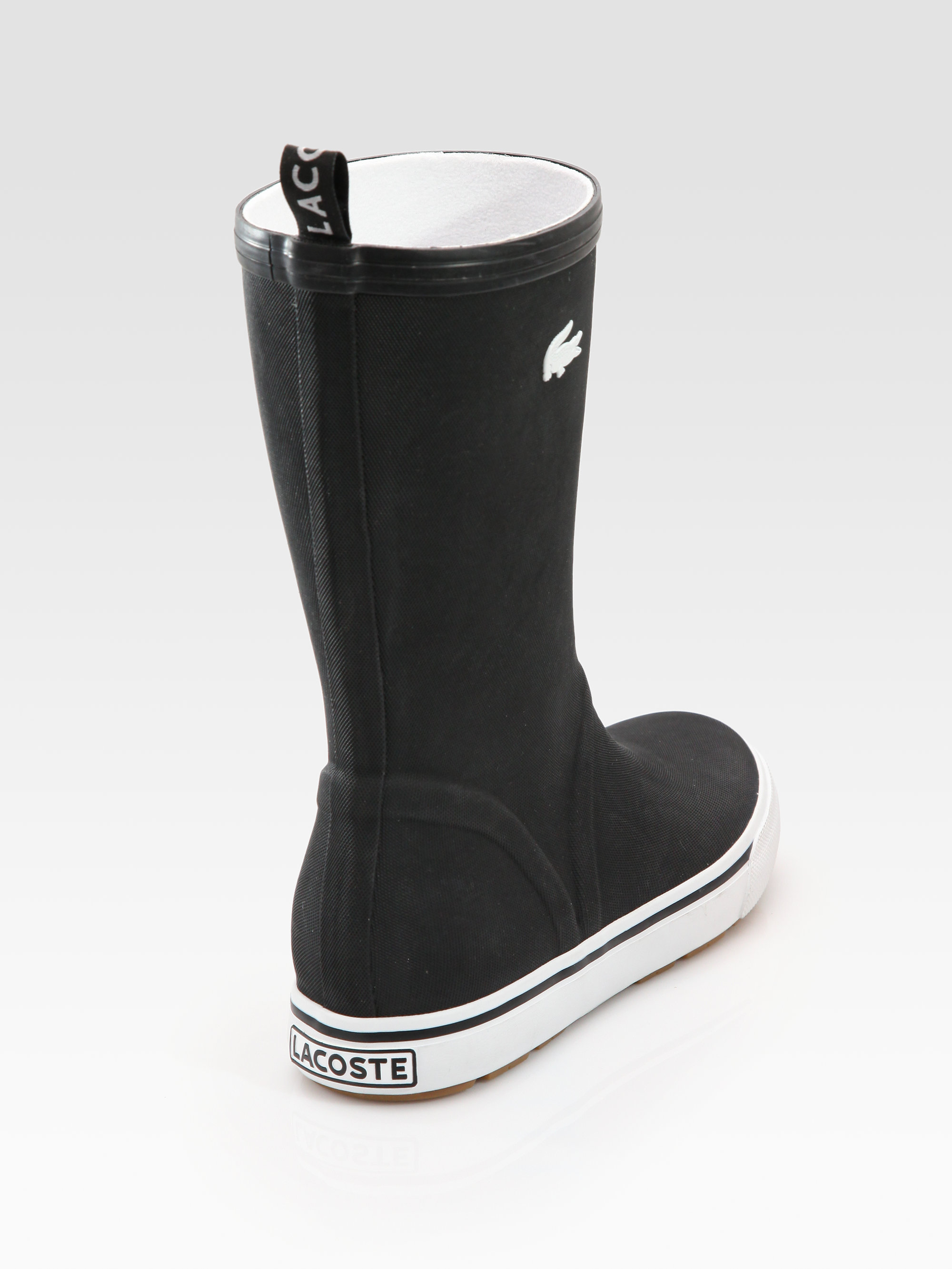Lacoste Rain Boots in Black for Men | Lyst