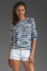 Marc By Marc Jacobs Sam Button Back Sweater in Bridgewater Blue Multi - Lyst