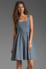 Marc By Marc Jacobs Dotty Chambray Dress in Indigo Multi - Lyst