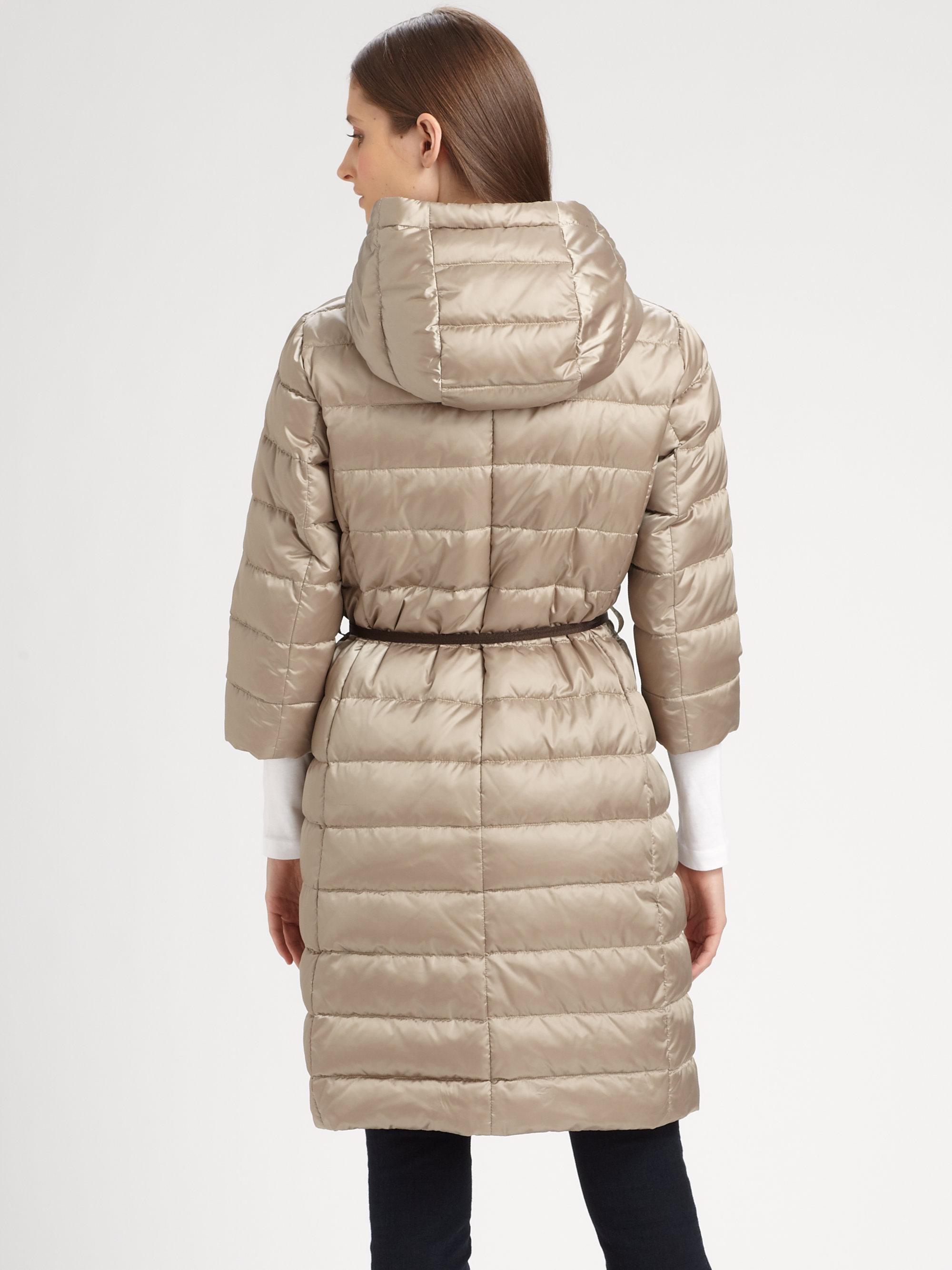 Lyst - Max mara Novef Long Quilted Coat in Natural : max mara quilted jacket - Adamdwight.com