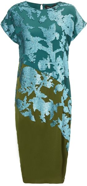 Narciso Rodriguez Malachite Paillette Sequin Dress - Lyst