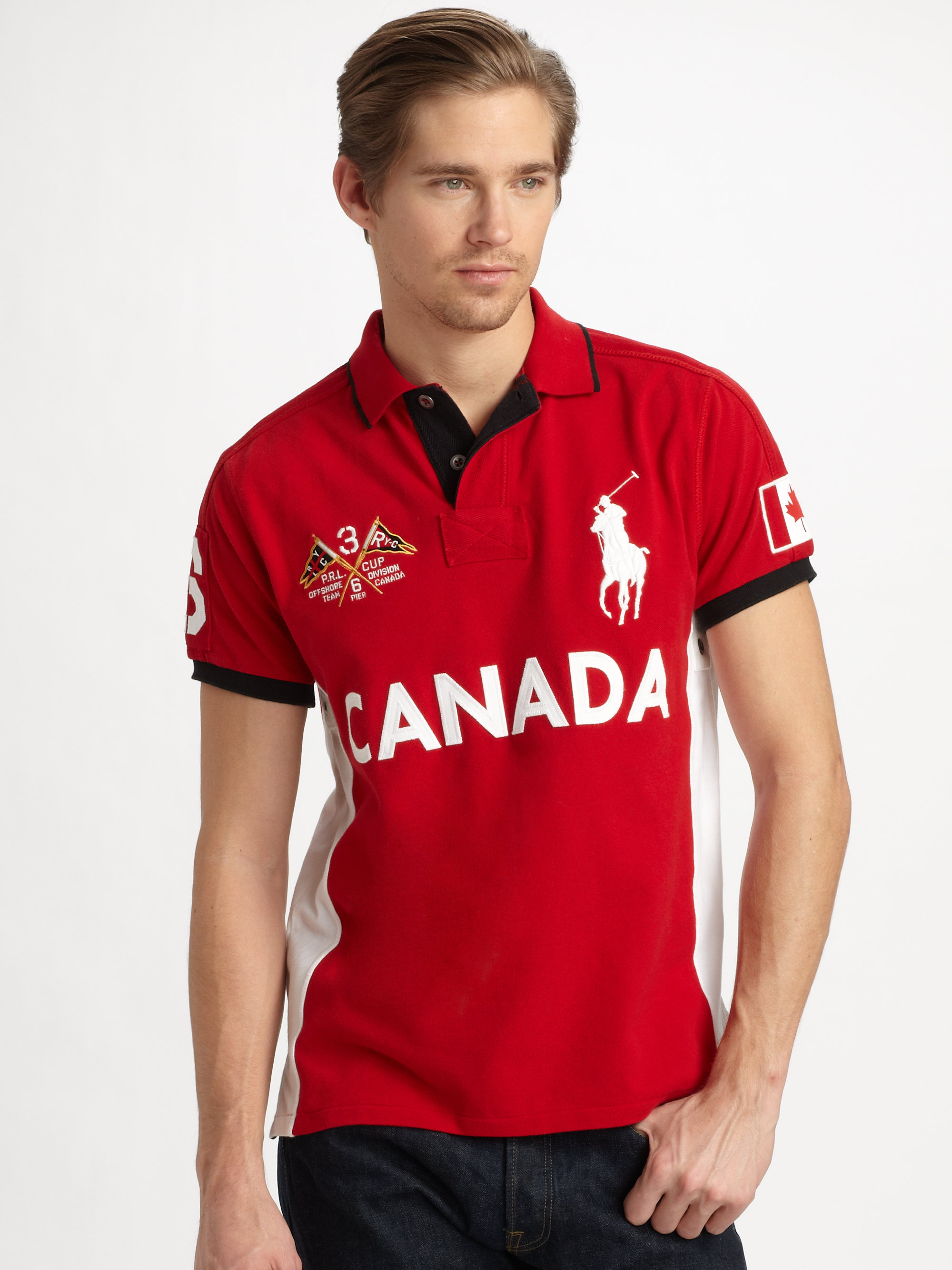 Polo ralph lauren customfit big pony country polocanada in for Custom polo shirts canada